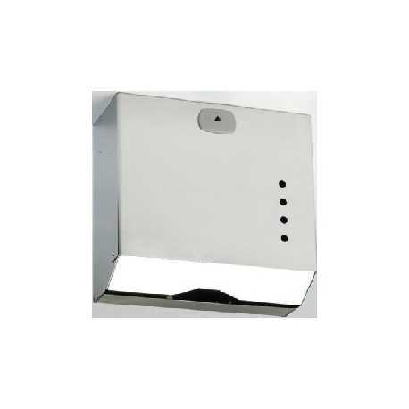 Dispensador de papel en acero inoxidable 600 servicios Z