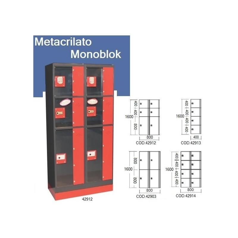 Metacrilato MONOBLOCK - puertas transparentes