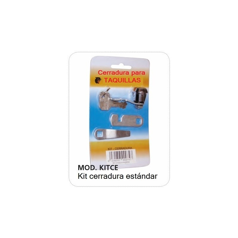 Kit cerradura taquillas
