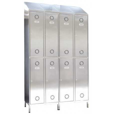 Taquilla de acero inoxidable, 1 puerta 1 columna